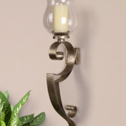 "19639 Loran, Wall Sconce by uttermost - Get 10% discount on your first order. Coupon code: ""houzz"". Order today."