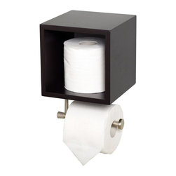 Zenith Products - Zenith EBCUB06CH Cube Storage with Toilet Paper/Hand Towel Holder Multicolor - E - Shop for Toilet Paper Holders from Hayneedle.com! The rich espresso Zenith EBCUB06CH Cube Storage with Toilet Paper/Hand Towel Holder is a wonderful multi-purpose item that will revolutionize the way you organize your bathroom.About ZenithZenith Products Corporation is America's leading manufacturer of bathroom storage and organizational products for the retail market. Zenith offers a wide line of items and accessories that are both attractive and functional. Customers can choose from bath furniture in a variety of finishes materials sizes and designs. These products are complemented by matching space-savers tank-toppers and storage items that enable homeowners to make maximum use of bathroom space. Zenith helps decorate and organize bath and shower enclosures with its patented Twist-Tight curtain rods and broad range of shower caddies and lotion dispensers available in a wide array of styles and colors. Based in New Castle Del. Zenith products are distributed nationwide through home centers bath specialty shops mass merchants and catalog retailers.