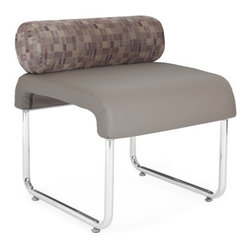 OFM - OFM UNO Pillow Back Seat, Taupe - 250 lbs. weight capacity