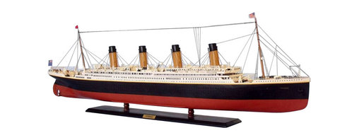 "Handcrafted Model Ships - RMS Titanic Limited 50"" with LED Lights - RMS Titanic Museum Quality Cruise Ship - Sold fully assembled."
