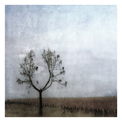 Arms Opened, Limited Edition, Photograph - single tree in a rural landscape with limbs rising to the sky in muted tones.  available in other sizes.  custom printed on matte fine art paper using archival inks. signed and numbered.  placing image surrounded by a wide mat in a large frame is quite nice.
