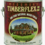 MESSMER'S INC - TF-502 1G CEDAR TIMBERFLEX - TIMBERFLEX LOG HOME FINISH  3-coat, film forming, oil-based exterior finish  Excellent for log and timber frame  Gives beautiful, varnished appearance  Premium natural wood finish for vertical surface  Use on homes with full logs, log siding, -  timber frame or other wood siding  Highest quality pigments & UV absorbers, high-  solids content & state of the art fungicides    TF-502 1G CEDAR TIMBERFLEX  SIZE:1 Gal.  FINISH:CedarCoverage: 75-100 sq.ft. per gallon withthe recommended two coatsOptional 3-coats for deeper colors