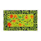 N/A - Live, Laugh, Love - Welcome MAT - •Exciting full color design Indoor/Oudoor Entry MAT with built in channels provide high fashion appeal.