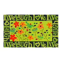 BuyMATS Inc. - Live, Laugh, Love - Welcome MAT - •Exciting full color design Indoor/Oudoor Entry MAT with built in channels provide high fashion appeal.