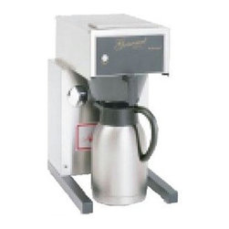 Bloomfield Industries - Extra Low Thermal Coffee Brewer - Bloomfield pour-over thermal brewer, heavy duty, commercial Stainless Steel, 120V, 1800W.  Commercial grade 12 cup (60 oz) brewer, thermal dispenser required, low profile, will fit under 17 inches.