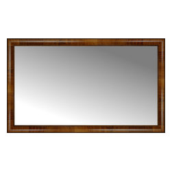 """Posters 2 Prints, LLC - 47"""" x 28"""" Belmont Light Brown Custom Framed Mirror - 47"""" x 28"""" Custom Framed Mirror made by Posters 2 Prints. Standard glass with unrivaled selection of crafted mirror frames.  Protected with category II safety backing to keep glass fragments together should the mirror be accidentally broken.  Safe arrival guaranteed.  Made in the United States of America"""