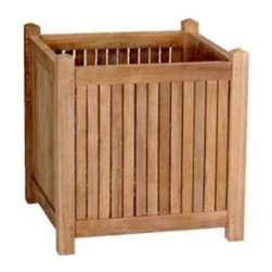 "Anderson Teak - 18"" Planter Box - This planter box is a compliment for a small or medium size plants. It is perfect for anyone or gardener who love the perfection and it is available in different sizes."
