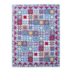 Patch Quilts - Denim Burst Queen Quilt - -Constructed of 100% Cotton  -Machine washable; gentle dry  -Made in India Patch Quilts - QQDEBR