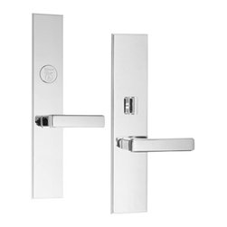 Door Hardware: Entrance Sets - Classic Brass Fifth Avenue Lever x Lever Entry Set. Available in other finishes!