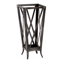 Raw Steel Metal Hacienda Umbrella Stand - *Hacienda Umbrella Stand