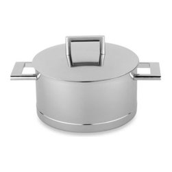 Demeyere - Demeyere 4.2-Quart John Pawson Dutch Oven with Lid - Designed by John Pawson for Demeyere, this elegant stainless steel Dutch oven boasts a clean, modern design and an InductoSeal base that is hermetically sealed around the sides for even heating and to eliminate hot spots that can cause food to burn.