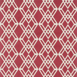 """Loloi Rugs - Loloi Rugs Felix Collection - Red / Ivory, 2'-3"""" x 3'-9"""" - With bold patterns and fun color options, Felix is an ideal collection for any modern interior. These simple, geometricdesigns are printed in India onto an all-cotton surface, creating a look that's casual but still eye-catching."""