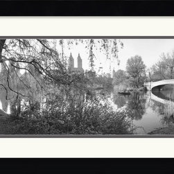 Amanti Art - The Lake and Bow Bridge, Central Park, 1992 Framed Print by Bruce Davidson - Capture the romance of Central Park with this dreamy black and white photograph of a scene along the lake.