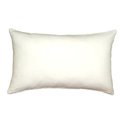 Pillow Decor - Pillow Decor - Tuscany Linen White 12 x 20 Throw Pillow - The Tuscany Linen 12 x 20 Throw pillows are 100% linen with a soft natural linen touch and texture. Available in a range of colors and sizes, these linen pillows are ideal solid color accent pillows for your bed or sofa. Mix and match to complement other accent colors in your home.