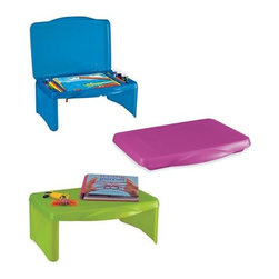 Collapsible 3-compartment Folding Lap Desk - No room for a desk? Have the kids study on the couch or the bed with this collapsible desk.