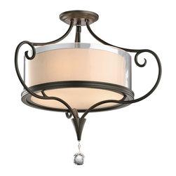 Kichler Lighting - Kichler Lighting 42866SWZ Lara Traditional Semi Flush Mount Ceiling Light - Kichler Lighting 42866SWZ Lara Traditional Semi Flush Mount Ceiling Light