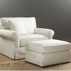 Baldwin Upholstered Club Chair and Ottoman