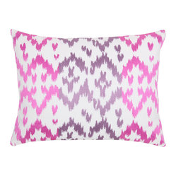 Ikat Pillow, Set of 2, Orchid