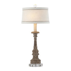 Aidan Gray - Aidan Gray Chaumont Table Lamp Set of 2 L55 - Created and finished by hand, this wooden lamp is placed on a crystal base to add to its overall character.