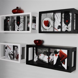 """Magic Photo Frames, also play as Wall Shelf - This brand new magic space  photo frameis perfect for you to display your beautiful pictures as well as a wall decoration of your home. The overall measurements of the photo frame is 5""""D*8""""H*30""""W."""