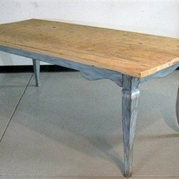 Rustic-Modern Barn Wood Dining Table - Made by www.ecustomfinishes.com