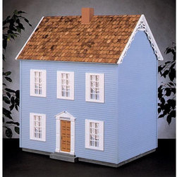 Real Good Toys - Real Good Toys Simplicity Dollhouse Kit - 1 Inch Scale Multicolor - S700-MM - Shop for Dollhouses and Dollhouse Furnishings from Hayneedle.com! The popular Real Good Toys Simplicity Dollhouse Kit - 1 Inch Scale is loaded with refined trimmings. This stately open-back collectible home echoes the early Colonial style; its innovative interlocking design results in quick and easy assembly. It includes seven rooms with an impressive 9-inch floor-to-ceiling height. Among this classic model's features are hand-split octagonal pine wooden shingles and durable gingerbread trim measuring 0.125 inches thick. This 3-story house is available in two different durable construction options. Choose between milled plywood and MDF wall finishes. Exterior walls and floorboards measuring 0.375 inches thick are reinforced by grooved sidewalls. These ensure easy one-step assembly guaranteed fit and durability. Both the chimney and pre-assembled windows have solid wood mullions. This unfurnished house comes with two assembled staircases but shingles and acrylic are not included. This kit is suitable for use by collectors. As it includes small pieces it's not recommended for children under the age of 3. Recommended supplies include a hammer fine-toothed saw glue utility knife masking tape sandpaper paint brushes ruler and brads. Assembly time will take approximately eight hours. About Real Good ToysBased in Barre Vt. Real Good Toys has been hand-crafting miniature homes since 1973. By designing and engineering the world's best and easiest to assemble miniature homes Real Good Toys makes dreams come true. Their commitment to exceptional detail the highest level of quality and ease of assembly make them one of the most recommended names in dollhouses. Real Good dollhouses make priceless gifts to pass on to your children and your children's children for years to come.