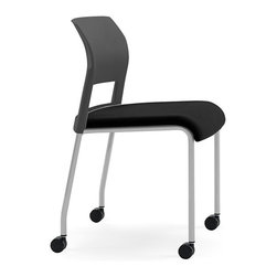 Steelcase - Steelcase Move Multi-Use Chair, Platinum Frame & Casters - Start your own support group with this multipurpose chair that conforms perfectly to your (and your guest's) body, thanks to interior flexors. They're lightweight and stackable, so you can set them up easily to accommodate a crowd, then pile them up out of sight.