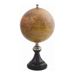 Authentic Models - Authentic Models Desktop Globe With Wooden Stand - Classy yet elegant, this Versailles Globe can be the perfect addition to your home decor! Our globe is attractive on a small desk or sideboard in your home or office. Adorn its matching age wood texture and feel, the polished sheen of bronze and brass This can certainly make a wonderful and appreciative gift for your loved one! Dimensions: 10.3 x 5.5''.