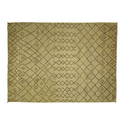 Manhattan Rugs - New Contemporary Hand Knotted 9'x12' Ivory & Brown Hand Made Wool Rug - MC108 - This is a true hand knotted oriental rug. it is not hand tufted with backing, not hooked or machine made. our entire inventory is made of hand knotted rugs. (all we do is hand knotted)