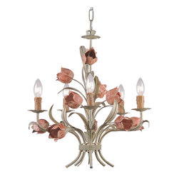 "Crystorama - Southport Chandelier - Southport Handpainted Wrought Iron Chandelier. Takes 5 - 60 w/c bulbs. Chain: 72"" Wire: 120"""