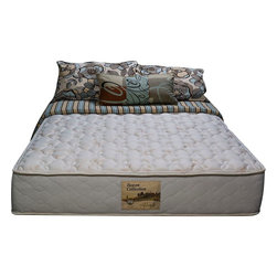"""Wolf Corp - Illusions Twin Mattress - The Illusion provides firm support with fiber padding. Foam encasement construction for edge to edge sleeping comfort. Innerspring core. Luxury stretch knit quilt cover for breathable sleep surface and conforming comfort.Premium quality, Foam encased, firm 11"""" rollable mattress; 336 high profile coil unit; foam encased border; internally made Wolf bonded full insulator pad for extra support; luxury stretch knit quilt for extra conforming comfort; Dimensions: 11""""H x 38""""W x 75""""D"""