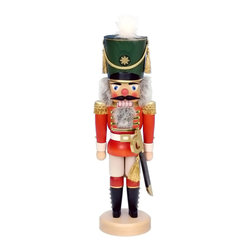 """Alexander Taron - Alexander Taron Christian Ulbricht Nutcracker - Red Soldier - 17""""H x 5.5""""W x 5""""D - The Red Soldier nutcracker stands straight - tall and proud in his traditional uniform."""
