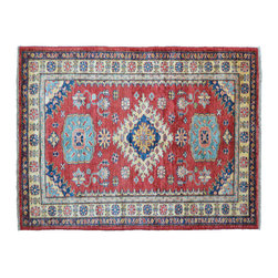 Oriental Rug, High Quality Kazak 3'X5' Hand Knotted 100% Wool Rug SH11364 - This collections consists of well known classical southwestern designs like Kazaks, Serapis, Herizs, Mamluks, Kilims, and Bokaras. These tribal motifs are very popular down in the South and especially out west.