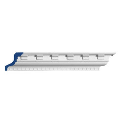 """Inviting Home - Monterrey Dentil Crown Molding - Monterrey dentil crown molding 3""""H x 3""""P x 4-1/4""""F x 7'10""""L repeat - 3"""" 4 piece minimum order required crown molding specifications: - outstanding quality crown molding made from high density polyurethane: environmentally friendly material is hypoallergenic and fully recyclable no CFC no PVC no formaldehyde; - front surface of this molding has extra durable and smooth surface; - crown molding is pre-primed with water-based white paint; - lightweight durable and easy to install using common woodworking tools; - metal dies were used for consistent quality and perfect part to part match for hassle free installation; - this crown molding has sharp deep and highly defined design; - matching flexible molding available; - crown molding can be finished with any quality paints; Polyurethane is a high density material--it's extremely lightweight and easy to install (and comes primed and ready to paint). It is a green material meaning its CFC and formaldehyde free. It is also moisture resistant--so it won't shrink flex or mold. What's also great about Polyurethane is that it's completely customizable and can be treated as wood (you can saw it nail it screw it and sand it). In addition our polyurethane material comes primed and ready to paint. There is a four piece minimum requirement for this molding purchase."""