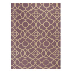 KAS - Kas Natura 2255 Purple Athena Rug - 6 ft 6 in x 9 ft 6 in - Kas Natura 2255 Purple Athena Area Rug. Kas Natura 2255 Purple Athena Area Rug. Our KAS Natura rugs pump up Eastern Indian motifs for a colorful, casual look. These vivid works of art will add fun and function to your room setting in fresh, updated colorations. Natura rugs have been machine woven in India, ensuring the heavy-duty jute construction provides durability and rich texture for your active lifestyle. Each modern Natura rug is ready to make a wow-statement in your contemporary space.