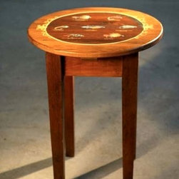 Custom Fly Fishing  Round End Table - From http://www.ecustomfinishes.com