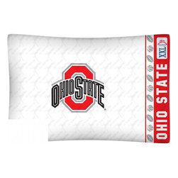 Sports Coverage - NCAA Ohio State Buckeyes Microfiber Pillow Case - Officially licensed NCAA Ohio State Buckeyes Microfiber coordinating pillow case to match Comforters, Pillow sham, Bedskirts and Draperies. The Pillowcase only has a white-on-white print and the officially licensed team name and logo printed in team colors. Made from 92 gsm microfiber for extra stability and soothing texture and is 100% Polyester. Wrinkle resistant and stain-resistant. Get your NCAA Pillow Case Today.   Features:  -  92 gsm Microfiber,   - 100% Polyester,    - Machine wash in cold water with light colors,    -  Use gentle cycle and no bleach,   -  Tumble-dry,   - Do not iron,   - Pillow case Standard - 21 x 30,