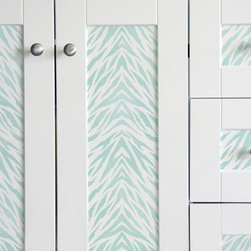 Zebra Stripes Furniture Stencil - Zebra Stripes Furniture Stencil from Royal Design Studio for walls, furniture, floor, ceiling, and fabric.