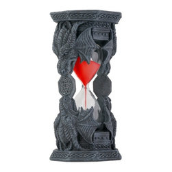 Summit - Celtic Tribal Dragon Head Sand Timer Display - This gorgeous Celtic Tribal Dragon Head Sand Timer Display has the finest details and highest quality you will find anywhere! Celtic Tribal Dragon Head Sand Timer Display is truly remarkable.