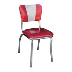 Richardson Seating - Richardson Seating Retro 1950s V-Back Diner Chair - Richardson Seating - Dining Chairs - 4120ZBU