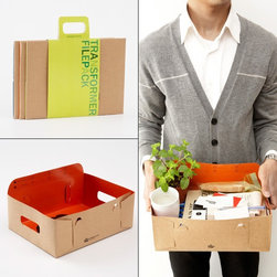 Transformer Filepack - These flat-pack folders transform into handy boxes and trays just like that! I mean, it's practically magic.