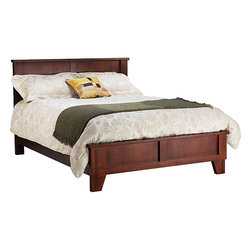 Rustic King-size Panel Bed -