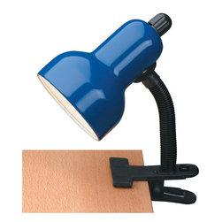 Lite Source - Gooseneck Clip Lite, Blue 60W - Gooseneck Clip Lite, Blue 60W
