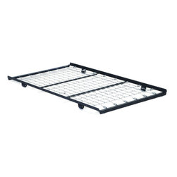 Acme Furniture - Roll-Out Trundle Bed Frame - Roll-Out Trundle Bed Frame; Finish: Metal; RTA, 4 Windsor Arrowback Chairs, Seat: 21mm Oval Seat, NO Scooping and DIY apron, Leg: Plain leg with 1 Plain Crossbar; Materials: Rbw;