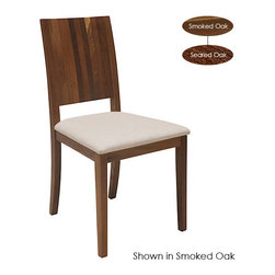 Nuevo Living - Obi Dining Chair, Set of 2, Seared Oak - Complement your fine cuisine with classic dining room decor — this chair being a sterling example. Clean, elegant lines crafted from solid French white oak support a comfortably cushioned seat upholstered in a cream viscose-blend fabric. Refined, relaxed and simply stylish.