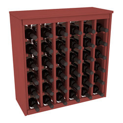 Wine Racks America - 36 Bottle Deluxe in Ponderosa Pine, Cherry Stain - Great start or addition to wine rack furniture, this wooden wine rack is designed to look like a freestanding wine cabinet. Solid top and side enclosures promote the cool and dark storage area necessary for aging your wine properly. Your satisfaction and our racks are guaranteed.
