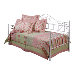 Hillsdale Furniture - Hillsdale Harrison Daybed - Our charming Harrison daybed features a bright white finish, a sweeping high profile back, a gently sloped arm, and delicate scrollwork that runs gracefully through the silhouette.