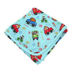 SheetWorld - SheetWorld Flannel Receiving Blanket - Animal Traffic Blue - Made in USA - Receiving Blanket is made from a double layer of the finest 100% cotton flannel material and is reversible. It's finished off with a matching cotton binding. Features animal traffic blue! Perfect blanket for your perfect baby. (matching sheets available)
