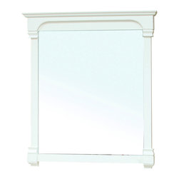 Bellaterra Home - 42 Inch Solid Wood Frame Mirror-Cream White - Solid wood construction frame with high quality mirror to withstand bathroom humidity. Dimension: 42 W x 2.4 D x 41.5 H