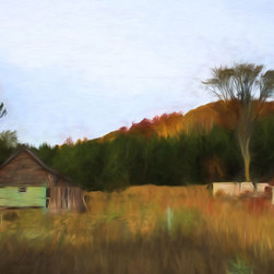 'Barnwood' A Digital Painting by Dennis Granzow, 30x20 - Image comes unframed. See framed sample below photo.